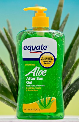 Walmart Co. Equate brand Aloe After Sun Gel is displayed for a photograph in Tiskilwa, Illinois, U.S., on Friday, Nov. 18, 2016. Photographer: Daniel Acker/Bloomberg
